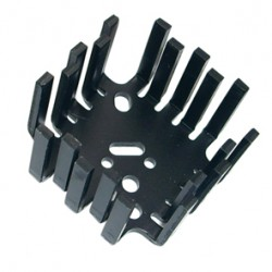 Extruded TO-3 Black Heatsink