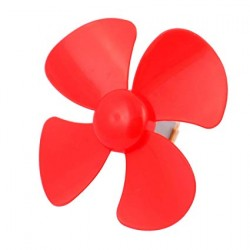 80mm Four-Blade Propeller Red