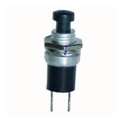 Push Button Switch N/O Black